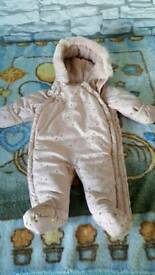 Baby Girls Winter Suit Size 0-3