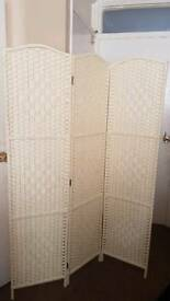 Cream room divider