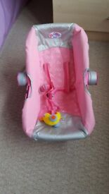 Baby Born car seat, excellent condition