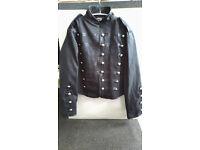 Living Dead Souls Unisex Small Cavalry Black Jacket Rock Emo Punk Metal Style