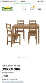 Ikea table 4 chairs