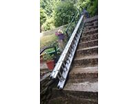 Double Extension Ladder 8.8 metres in total. (4.4 each)