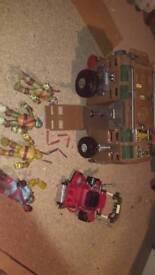 Ninja turtles cars and figures