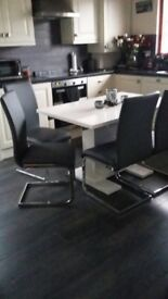 4 Brand New Grey Dining Chairs