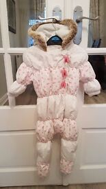 Next Baby Girls Snow Suit 6 – 9 Months.
