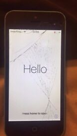 Iphone 5c blue cracked screen