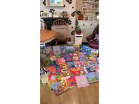BARGAIN BUNDLE OF 55 KIDS BOOKS GREAT COLLECTION CLEARANCE LOT DUE TO SPACE GREAT FOR HOLS