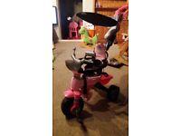 Avigo Body Trike in Pink - turns into a peddle bike