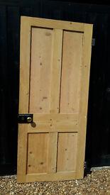 Victorian stripped pine door