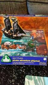 Pirate ship, mat & figures