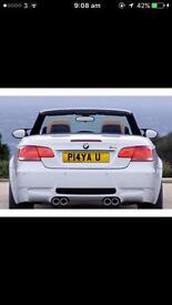 Playa u number plate £500