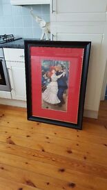 large framed picture, couple dancing