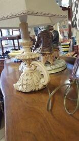 Vintage Lamp Base & Shade