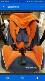 RECARO Young Profi plus' car seat birth-13kg orange/black velour Inc isofix base