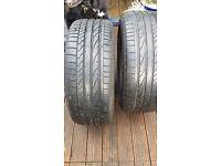 2 Bridgestone-Potenza Run Flat tyres