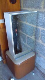 Mirror cabinet with 1 door £10