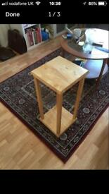 Beautiful, unusual oak side table / plant stand