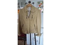 Soft cream leather jacket
