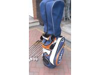Callaway Golf Bag and Taylor Made Golf Clubs S/ PW / 3-9 Irons with New Grips