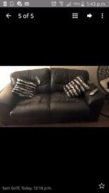 Two two seater sofas one has a small tear in it but will do anybody that needs a sofa must collect