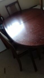 Used dining room table and 4 chairs. Perfect upcycling project