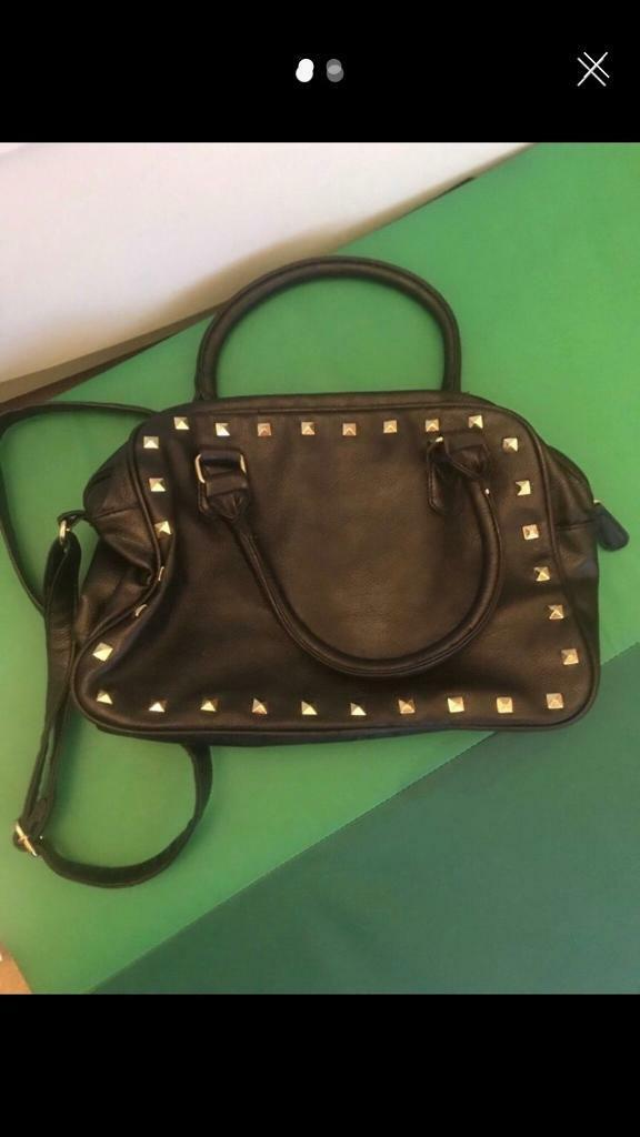 c698f7f373 Black leather style bag George