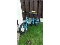 """Boys 16 """" bike bmx like new with stunt pegs can deliver for a small charge"""