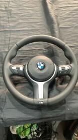 BMW F10 F11 5 6 SERIES STEERING WHEEL & AIRBAG