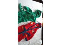 Boys dressing gown and onesie bundle
