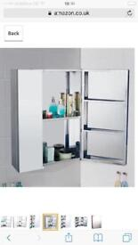 Stainless stele bathroom cabinet mirror