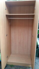 Beech Triple Wardrobe plus Single