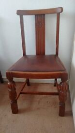 2 Oak dining room chairs