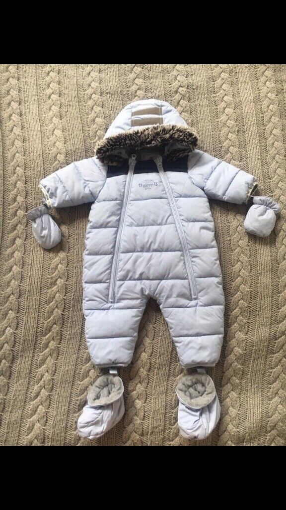 2bd3b559a Baby blue timberland snow suit 6M   in Aberdeen   Gumtree