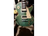 2014 120th Anniversary Gibson Les Paul Classic Limited Edition Flame Top Sea Foam with Gibson
