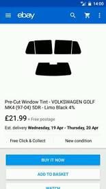 Window tint mk4 golf