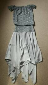 Ladies chiffon /lace skirt and top