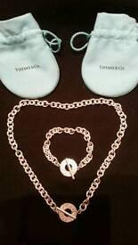 Sold - Tiffany & Co Silver Necklace and Bracelet Ser