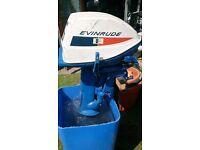 Johnson Evinrude Fisherman 6hp Long Shaft Engine