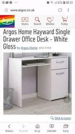 White gloss desk