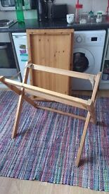 Sturdy real pine wood desk - removable top and foldable legs