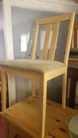 2 Modern Light Wood Dining Chairs