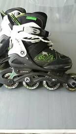 Kids Size adjustable inline roller blades
