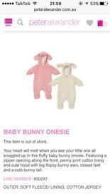 Baby bunny snow suit