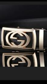 Double G men's designer automatic belts