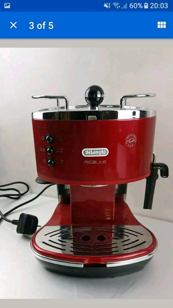 Delonghi Icona Micalite Espresso Coffee Machine Red In Barton On Sea Hampshire Gumtree