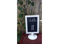 Wedding Table Numbers in Frames- Set Of 13
