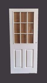 "33"" Pre-Finished Glazed White Internal Doors"