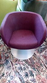 Modern purple swivel tub chair