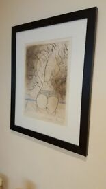 Salvador Dali , limited edition lithograph , small run of 145, stunning piece of artwork