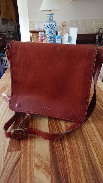 """501938e47137 Leather Bag - I MEDICI, Firenze - genuine Italian leather 12"""" x ..."""